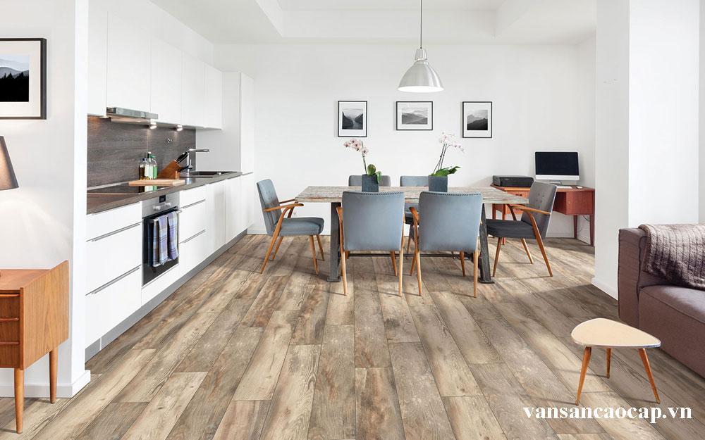 Chọn ván sàn gỗ tự nhiên cho phòng khách